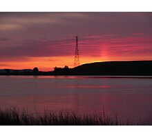 Sunset in the Sacramento and San Joaquin River Delta Photographic Print