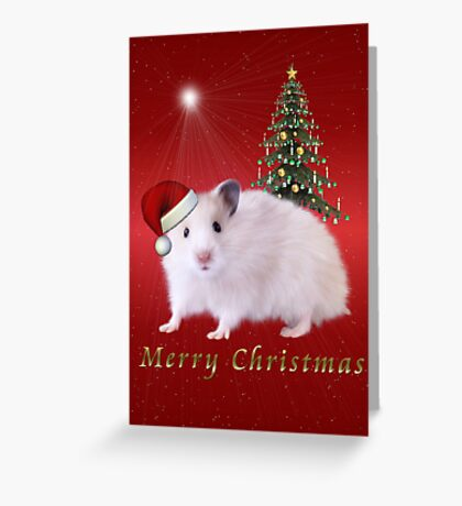 Christmas Hamster Greeting Card