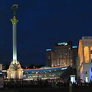 Kiev Ukraine View of the Independence Square by Yuriy Shevchuk