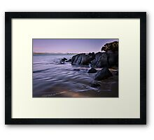 Silky Water Framed Print