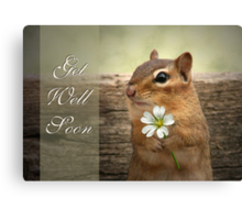 Chippy - Get Well Soon Card Canvas Print