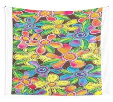 Funky Flowers (for Duvet & Clothing) Wall Tapestry
