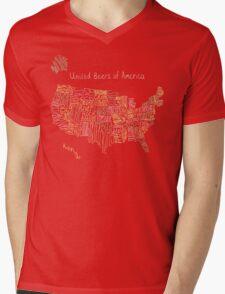 United Beers of America Mens V-Neck T-Shirt