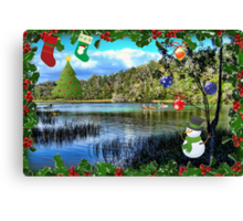 Christmas On the Rainbow River Canvas Print