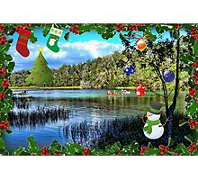 Christmas On the Rainbow River Photographic Print