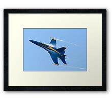 Vapor cloud, trail and a tail hook Framed Print
