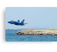 Blue Angel Solo barely lifts off  Canvas Print