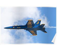 Blue Angels #3 With Smoke Poster