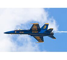 Blue Angels #3 With Smoke Photographic Print