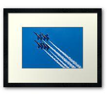 Blue Angels Diamond Loop Framed Print