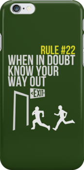 Zombie Survival Guide - Rule #22 - When In Doubt, Know Your Way Out by AlexNoir