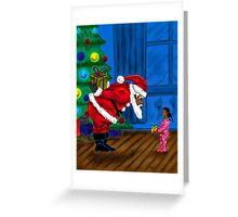 """""""Gift For Santa"""" Greeting Card"""