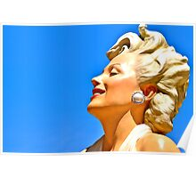 Marilyn in the Sky with Pearls Poster