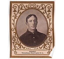 Benjamin K Edwards Collection Wid Conroy Washington Nationals baseball card portrait Poster