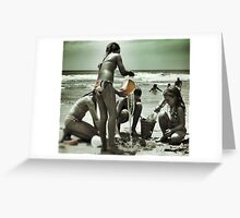 Playing in the Sand Greeting Card