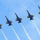 Blue Angels Line Abreast Loop by Henry Plumley