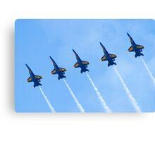 Blue Angels Line Abreast Loop Canvas Print