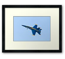 Blue Angels Solo #5 Dirty Roll on Take Off Framed Print