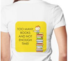 Too Many Books! Womens Fitted T-Shirt
