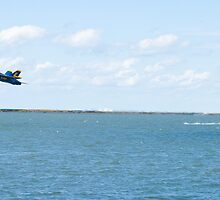 Blue Angels Solo #6 Creates a Wake by Henry Plumley