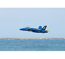 Blue Angels Solo #6 Skimming Lake Erie Photographic Print