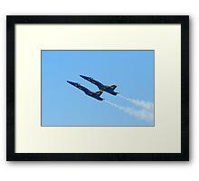 Blue Angels Solos High Alpha Pass Framed Print