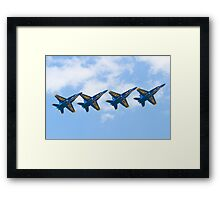 Blue Angels Tucked Under with Hook Framed Print
