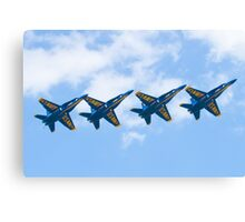 Blue Angels Tucked Under with Hook Canvas Print