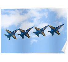 Blue Angels Tucked Under with Hook Poster