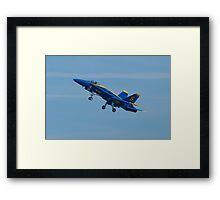 Blue Angels Solo #5 Dirty Take Off Framed Print