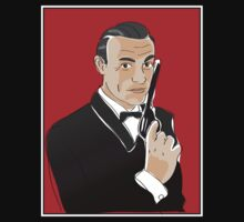 Digiter - Bond, Sean Connery Tee by Lauren Eldridge-Murray