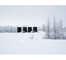 Winter In The Oil Patch Photographic Print