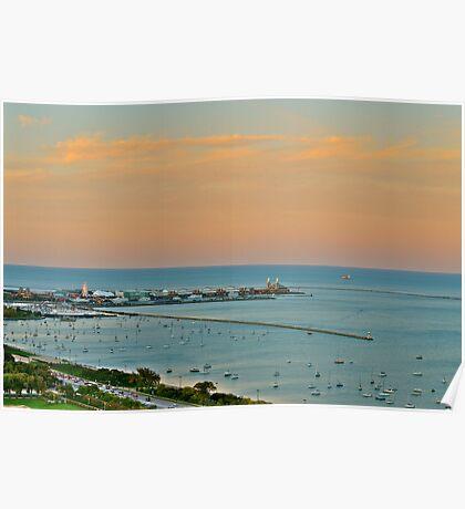 Lake Michigan Colors Poster