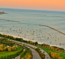 Lake Michigan from above by Ginadg73