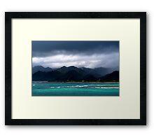 Stormy Reef Framed Print