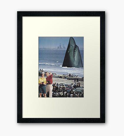 ' Open Jaws' Framed Print
