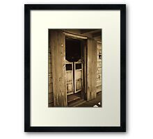 Swinging Door Saloon Framed Print