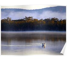 Early Morning fishing on the Myall Lakes Northern NSW Poster