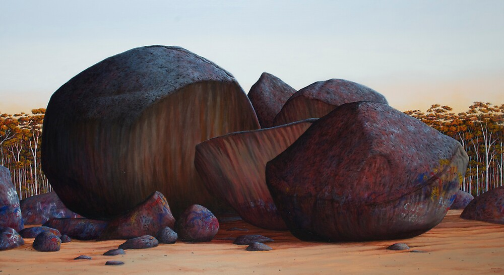 History Wars IV (reworked 2011), Oil on Linen, 84x153cm. by Jason Moad