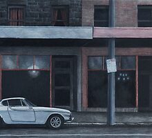 Evening (Volvo), Charcoal and Conti on paper, 34x57cm. by Jason Moad