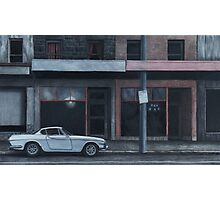 Evening (Volvo), Charcoal and Conti on paper, 34x57cm. Photographic Print