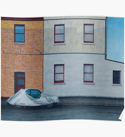 Covered Car, Pencil on Paper, 50x59cm. Poster