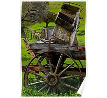 Old Wagon Seat Poster