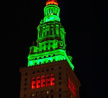 Christmas Terminal Tower by Henry Plumley