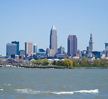 Cleveland Skyline Spring by Henry Plumley