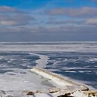 Lake Erie Frozen Over by Henry Plumley
