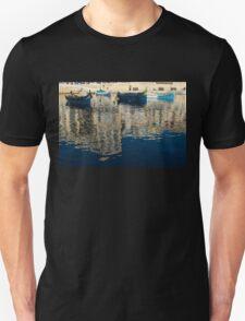 Reflecting on Malta - St. Julian's Harbor Charming Old Boats Unisex T-Shirt