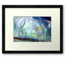Paua Shell Abstract Framed Print