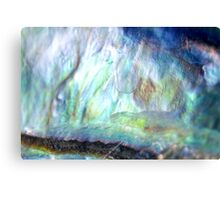 Paua Shell Abstract Canvas Print