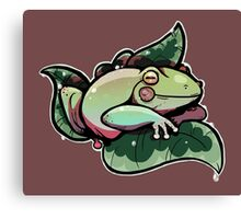 Nice Little Frog  Canvas Print